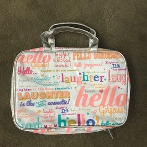 Benefit Cosmetics large cosmetics bag NWOT